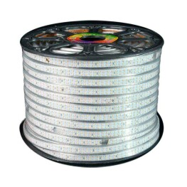 Tira LED 220V SMD2835 doble, 180Led/m, carrete 50 metros, Blanco neutro